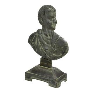 Metal Bust of Cesar on Base