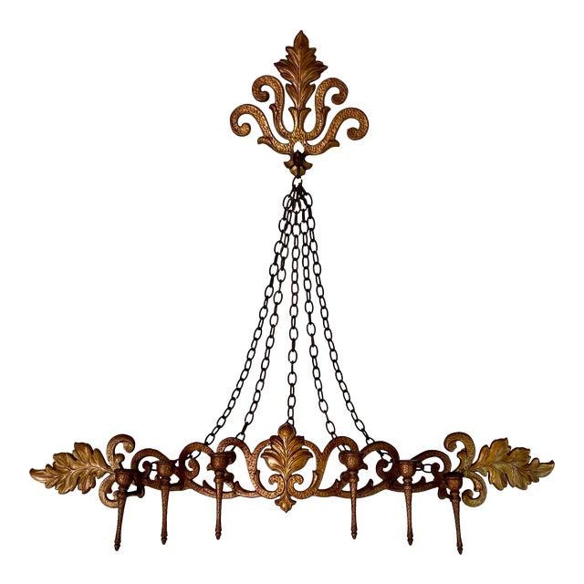 1970s Goldtone Hanging Candelabra For Sale