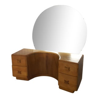 Heywood Wakefield Vanity with Mirror, 1950