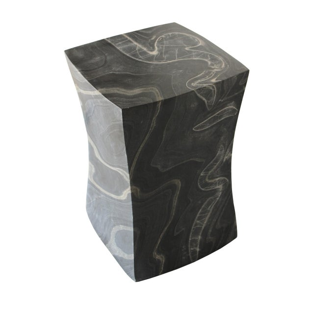Beslana Block Side Table - Black Marble For Sale - Image 4 of 9