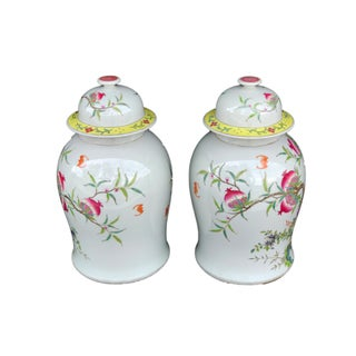 "Stunning Chinese Famille Rose Ginger Jars ,Pair 17.5"" H Preview"