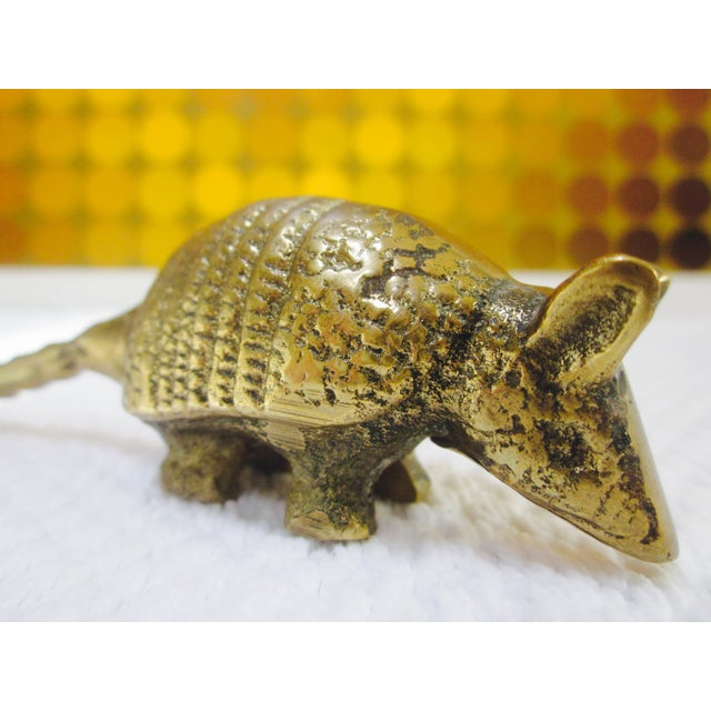 Solid Brass Anteater Paperweight Figurine - Image 7 of 8