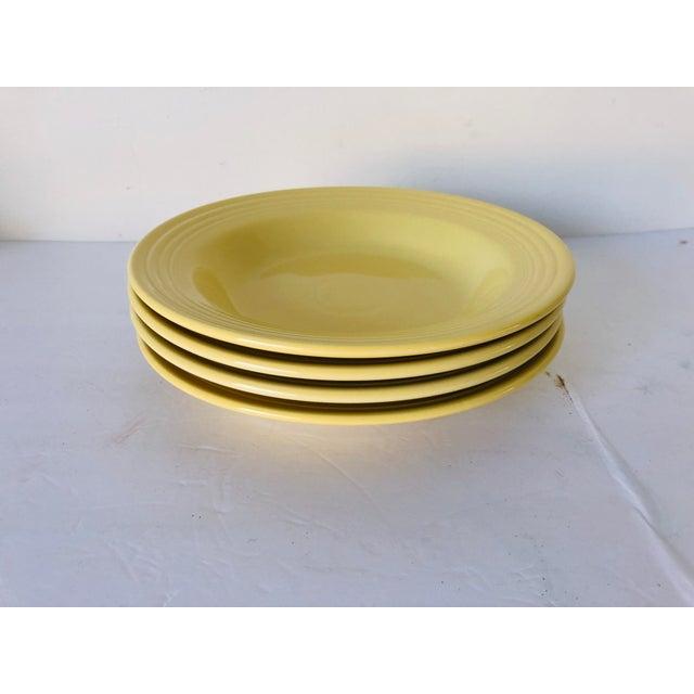 Fiesta Ware Yellow Soup Bowls s-4