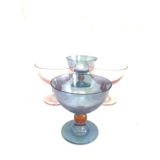 Blue Cerve Italian Glassware - 4 For Sale - Image 8 of 8