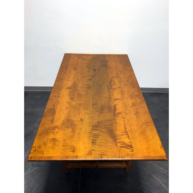 JL Treharn Tiger Maple Mission Shaker Amish Style Farmhouse Dining Table For Sale - Image 4 of 11
