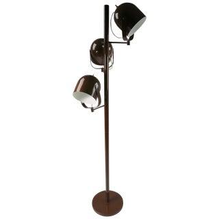 Mod Three-Light Floor Lamp Designed by Gerald Thurston for Lightolier For Sale