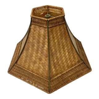 Mid-Century Modern Rattan Classic Lampshade For Sale