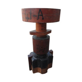 Sculptural Industrial Wood Mold For Sale