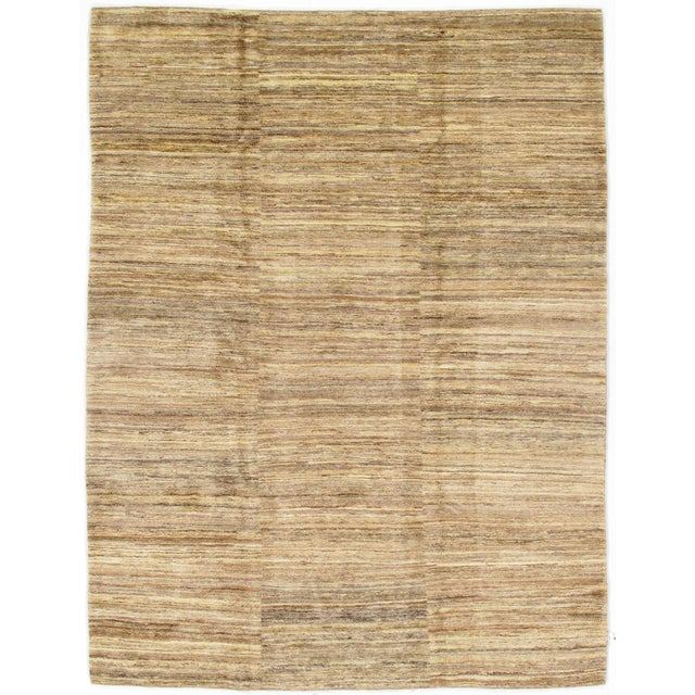 """2010s Traditional Pasargad NY Genuine Persian Gabbeh Rug - 8′4″ × 10′11"""" For Sale - Image 5 of 5"""