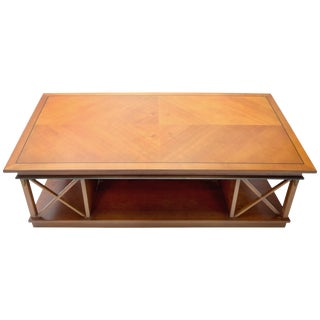 Traditional Angelo Cappellini Coffee Table With Neoclassical Details For Sale
