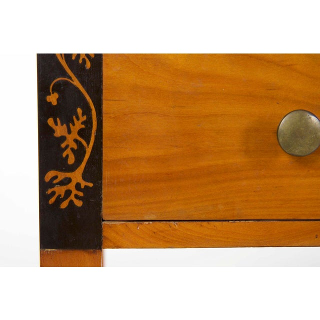 Biedermeier Style Inlaid Fruitwood Writing Table For Sale - Image 10 of 13