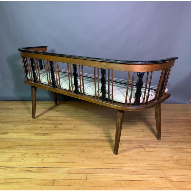 1950s Swedish 1950s Småland Long Bench in Solid Pine For Sale - Image 5 of 11