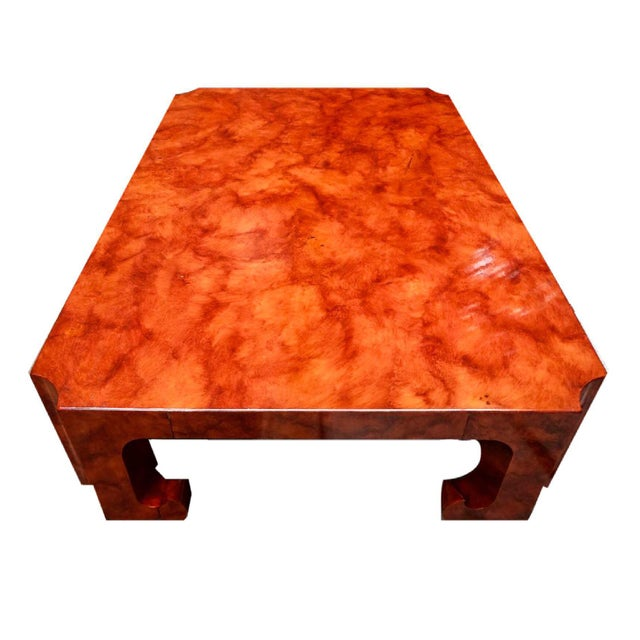 Asian 1970s Hollywood Regency Baker Collector's Edition Cinnabar Lacquer Coffee Table For Sale - Image 3 of 7
