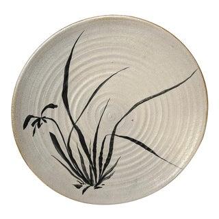 1960s Fern Giorgi Mid Century Studio Pottery Plate, Ohio For Sale