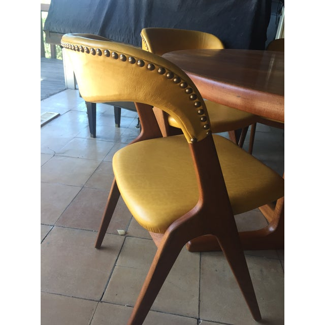 Mid-Century Modern Teak Dining Table/Chairs Set For Sale - Image 4 of 11