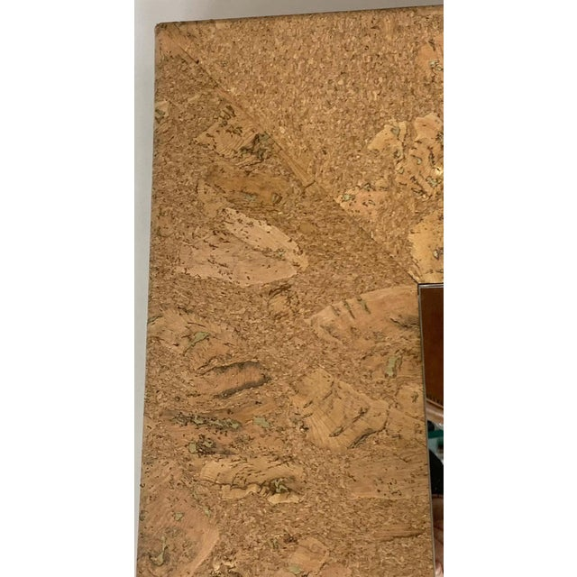 Mid 20th Century Mid-Century Modern Square Cork Mirror For Sale - Image 5 of 6