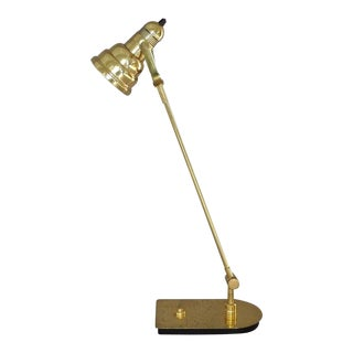 Brass Tilt Von Nessen Desk Lamp For Sale