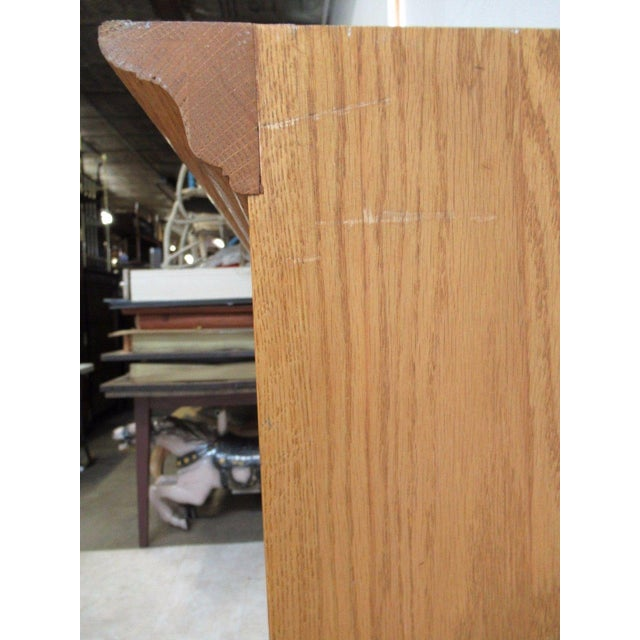 Ethan Allen Chippendale Canterbury Oak Dresser Hutch Top Shelf - Image 6 of 9