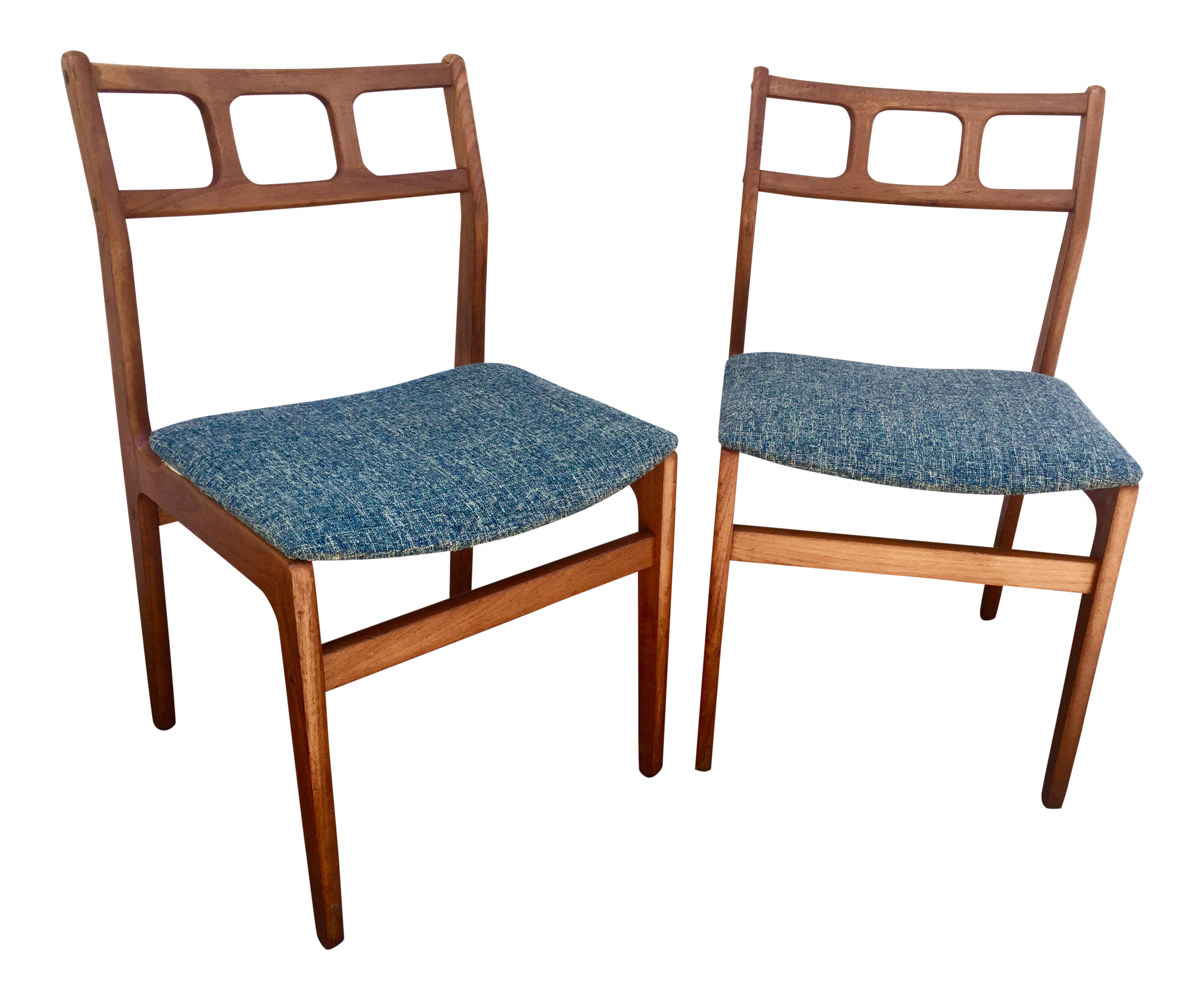 Mid Century D Scan Teak Chairs   A Pair   Image 1 Of 6
