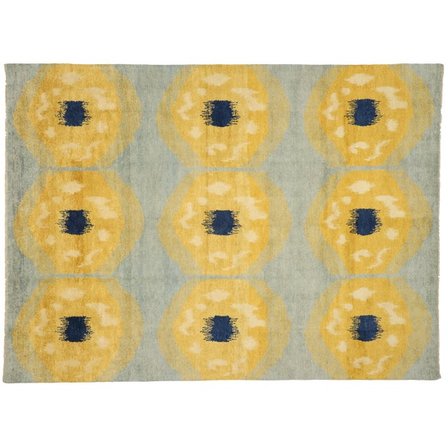 Contemporary Moroccan Rug With Concentric Circles - 10'02 X 13'09 For Sale