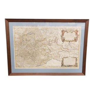 1690 Map of the French and Italian Alps by Sanson & Jaillot For Sale
