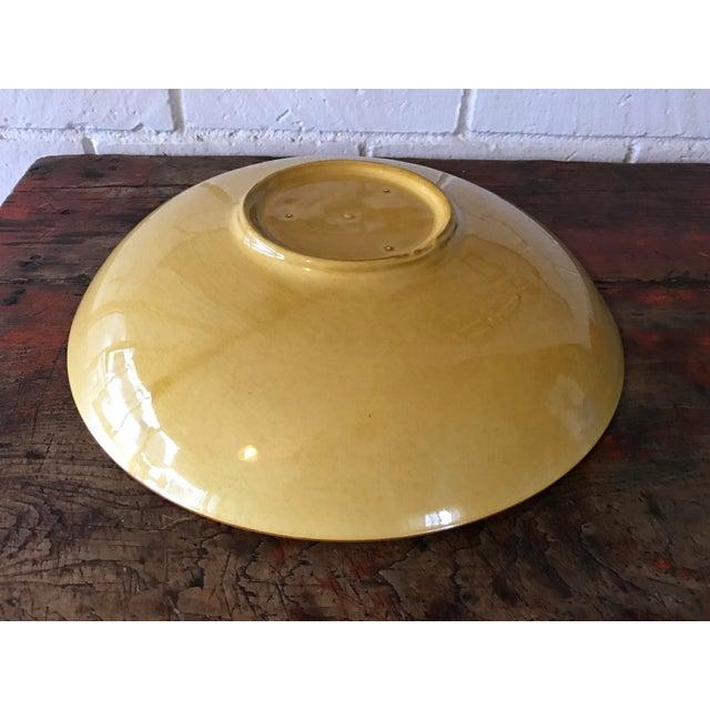 Vintage Pottery Large Shallow Fruit Bowl - Image 8 of 10