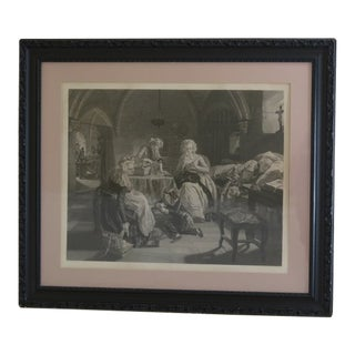 1862 Louis XVI & Family London Framed Etching For Sale