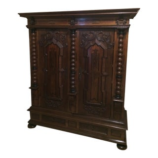 "17th Century German ""Schrank"" Chest For Sale"