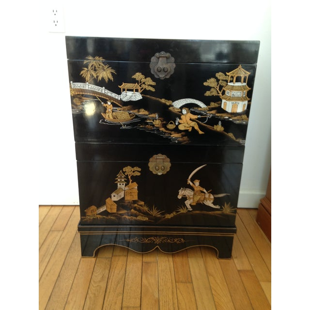 Vintage Chinese Laquered Chests - A Pair - Image 3 of 11