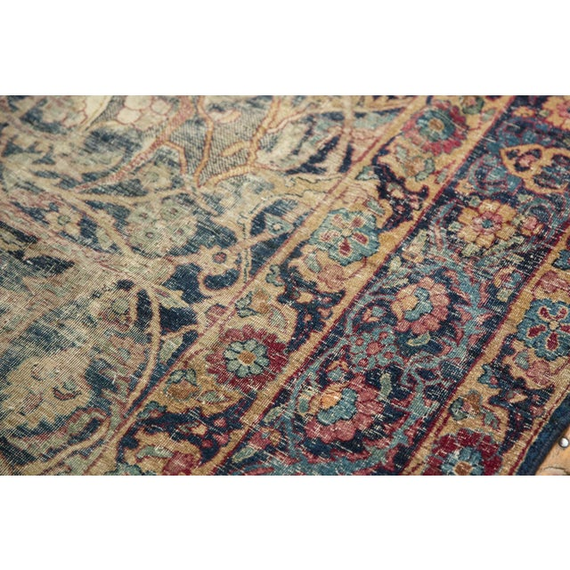 "Boho Chic Vintage Yezd Carpet - 9'2"" X 11'9"" For Sale - Image 3 of 13"