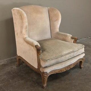 Grand French Walnut Louis XV Wingback Armchair Preview