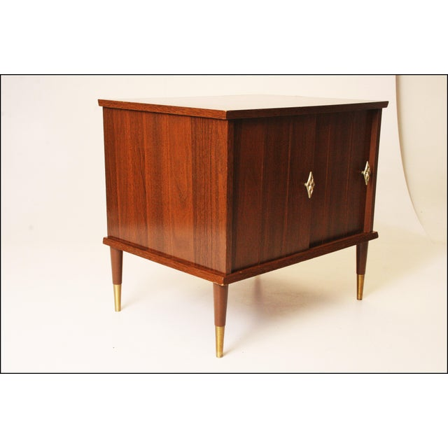 Mid-Century Modern Wood Record Cabinet - Image 5 of 11