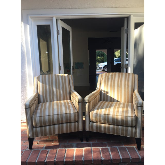 Striped Chairs From Sherrill Furniture Set Of 4 Chairish