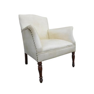 Antique English Edwardian Library Club Chair For Sale