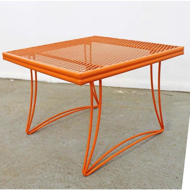 Orange Mid-Century Modern Homecrest Bottemiller Metal End Table 1521 For Sale - Image 8 of 8