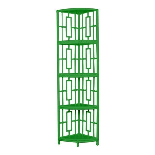 Trinity Corner Etagere - Bright Green For Sale