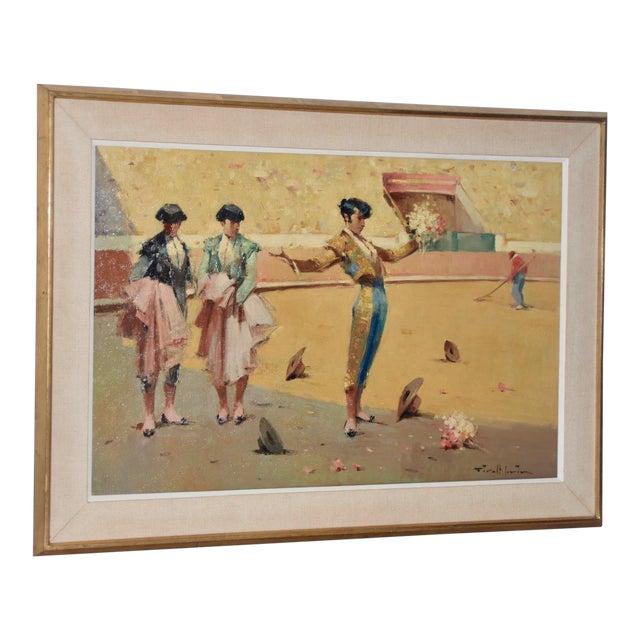 Joan Giralt-Lerin (Spain, 20th C.) Toreador Oil Painting C.1950 For Sale