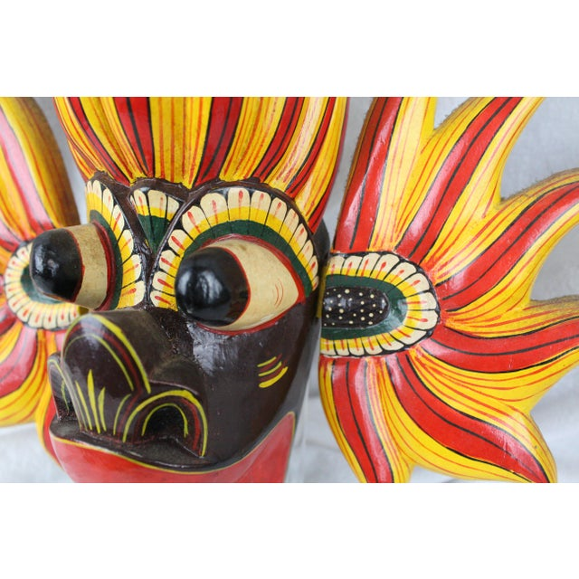 Paint Vintage Asian Dragon Mask For Sale - Image 7 of 8