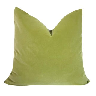 "20"" Pistachio Cotton Velvet Pillow Cover For Sale"