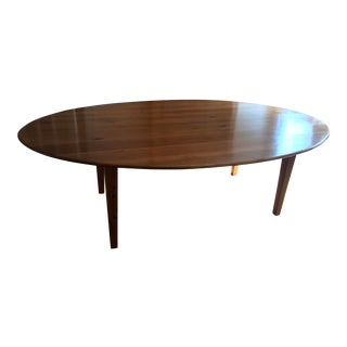 20th Century Rustic Pine Large Oval Dining Table For Sale