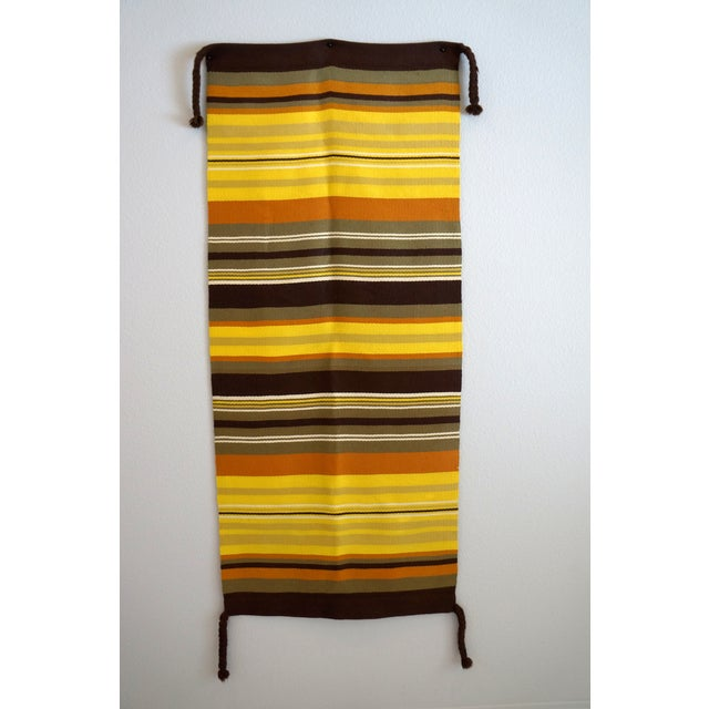 Mid-Century Modern Wool Wall Hanging - Image 2 of 5