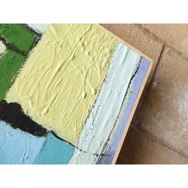 "Blue ""Carrés Et Couch De Couleur"" an Original Contemporary Painting by American Artist Kenneth Joaquin For Sale - Image 8 of 13"