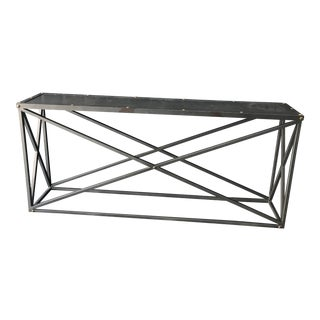 Restoration Hardware X-Brace Iron Console Side Table For Sale