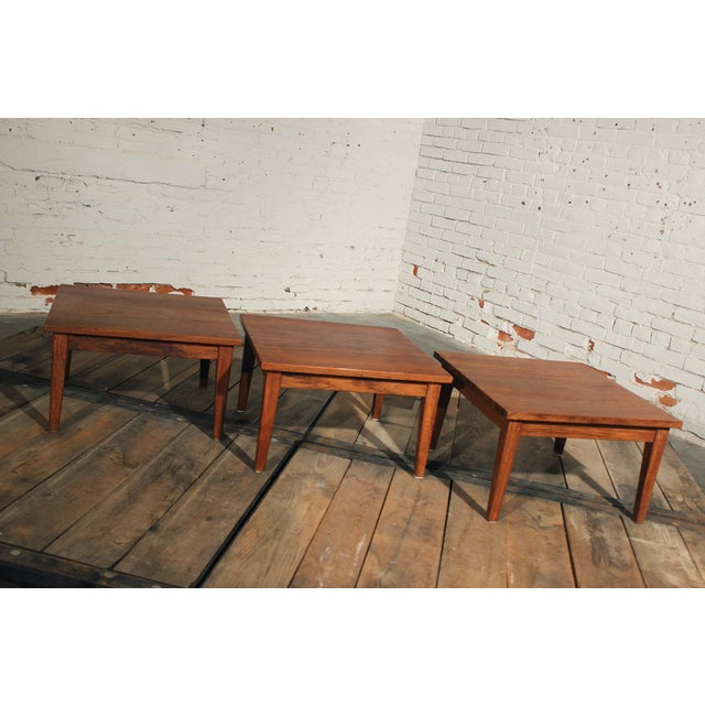 Mid-Century Stackable Rosewood Tables - Set of 3 - Image 5 of 9