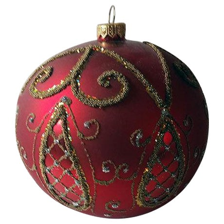 Red and Gold Hand Made Polish Tree Ornament - Image 1 of 6
