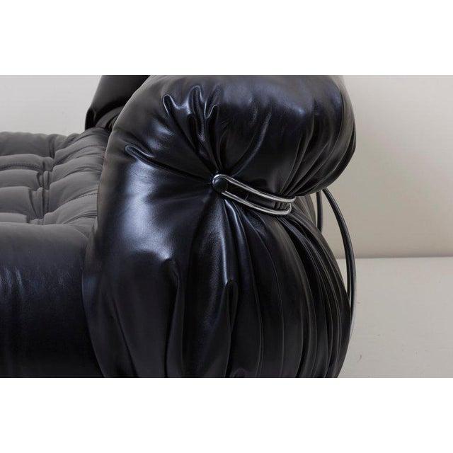 Black Cassina Soriana Sofa Set by Afra & Tobia Scarpa For Sale - Image 8 of 8