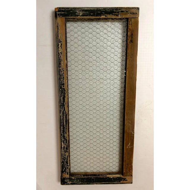1890s Vintage Salvaged Police Station Chicken Wire Windows - a Pair For Sale In Dallas - Image 6 of 13