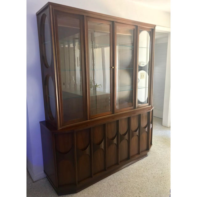 1960s Brutalist Kent Coffey Perspecta Credenza and Hutch For Sale - Image 12 of 12