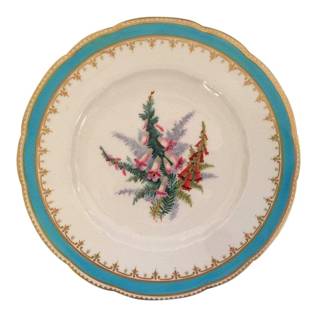 1930s English Traditional China Plate For Sale