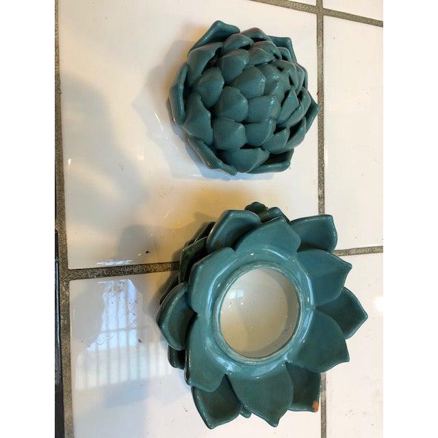 1980s Ceramic Artichoke - Set Of 3 For Sale - Image 4 of 7